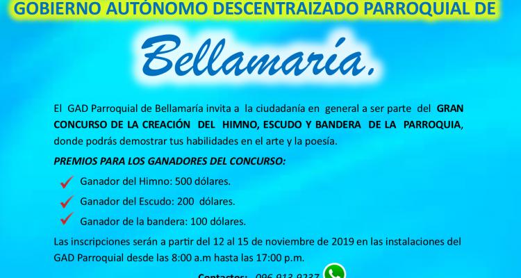GRAN CONCURSO DE CREACIÓN DE ESCUDO, BANDERA E HIMNO PARROQUIAL.